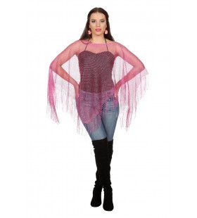 Poncho Visnet Roze Vrouw