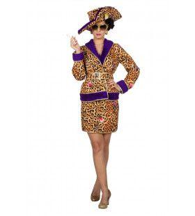 Deux Piece Glam Panter Vrouw Kostuum