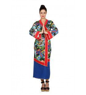Serene Draak Geisha Vrouw Kostuum