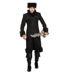 Bloeddorstige Kozak Wladimir Wolga Man Kostuum
