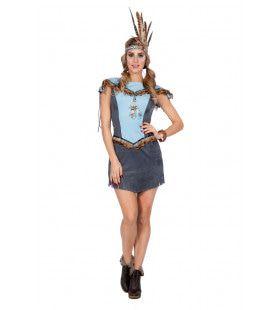 Hupa Hoopa Indiaan Wilde Westen Vrouw Kostuum