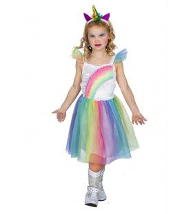 Fantasie Eenhoorn Regenboog Fabel Meisje Kostuum