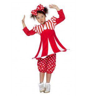 Levende Circustent Clown Meisje Kostuum
