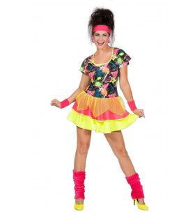 Daverende Disco Girl Jaren 80 Vrouw Kostuum