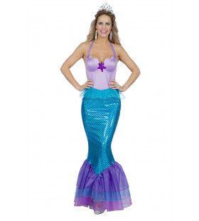Vissenstaart Zeemeermin Stille Zuidzee Vrouw Kostuum