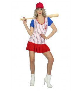 Curvy Cindy Baseball USA Vrouw Kostuum
