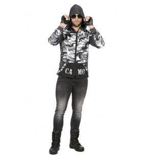 Paramilitaire Hoodie Jas Camo Kevin Man