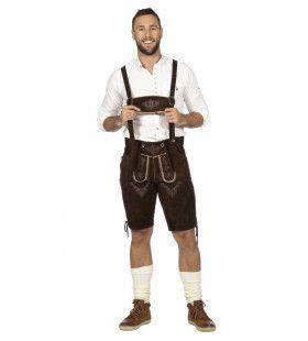 Bierfeest Lederhosen Duitse Dorstige Dieter Man