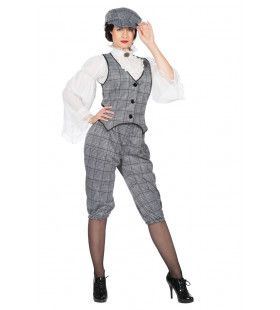 Set Roaring 20s Lizzie Eastender Vrouw Kostuum