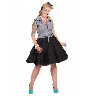Rockabilly Grijze Rizzo Vrouw Kostuum