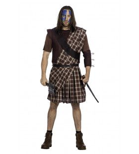 Schotse Strijder Highlands Man Kostuum