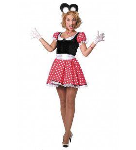 Dotted Minnie Modern Vrouw Kostuum