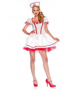 Wonderland Naughty Nurse Vrouw Kostuum