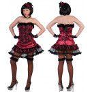 Burlesque Can Can Danseres Vrouw Kostuum
