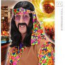 Pruik, Hippie (Lennon) Zwart