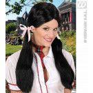 Pruik, Schoolmeisje Zwart