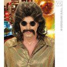 Pruik, 70s Man Bruin