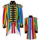 Multicolor Frackjas Regenboog Man Kostuum