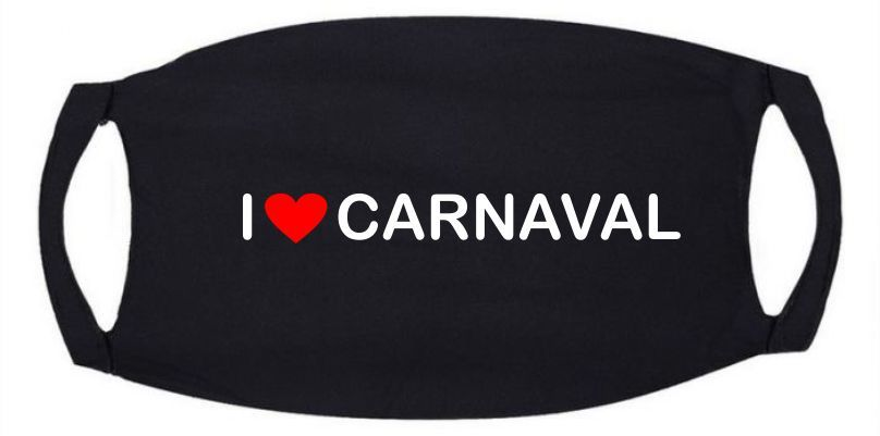 Carnavalsmondkapje - I love Carnaval mondkap